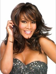 Top Quality Wonderful black Cheap Short Wig With Bangs Wigs fiber Hair For African American women