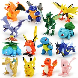 Wholesale New style Poke pikachu Action Figure building blocks intelligence educational toys Birthday gifts with gift box