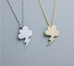 Fashion Rose gold plating Pendant necklace Clouds and thunder necklaces for women wholesale and mixed color free shipping
