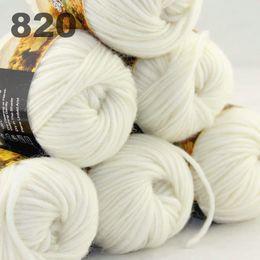 6Xballs Australia colorful hand-knitted wool score yarn segment dyed yarn White 522820