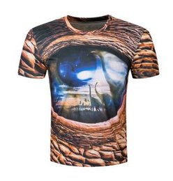 Wholesale Speed To Sell Through Ebay Amazon Foreign Trade Leisure Men s Clothing Dinosaur Eyes D Printed T shirts With Short Sleeves