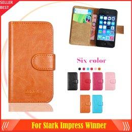 Wholesale Factory Price Luxury Flip Leather Case For Stark Impress Winner Phone Bag Slip resistant Cover Retro Vintage Book Crazy Horse Style
