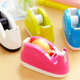 Wholesale Candy Color Cute Effective Tape Tape Dispenser For Effective Width mm Adhesive Tape Cutter Office Tape Machine ABS g