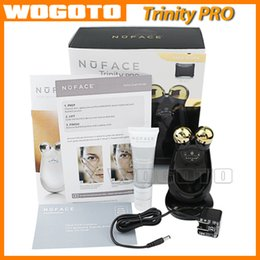 Wholesale NUFACE Trinity PRO K GOLD EDITION facial trainer kit Skin Care Device Face Massager Electric Roller Multi Functional Beauty Equipment