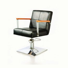 Wholesale Hairdressing chair salon styling chair high quality salon beauty chair hair cut chair barber chair black fabulouse cool chair