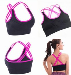 Wholesale Newest style Double Layers Seamless Bra with Removable Pads Sexy Bra Knitted Fabric Type best selling underwear bra crop tops
