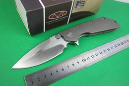 Wholesale HOT SALE Wild Boar Microtech Strider knives Marfione Custom DOC folding Knife high end Titanium handle D2 best Christmas gift free s