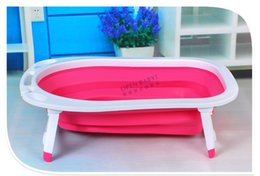 Wholesale Size cm Suit For years old Baby Newborn Baby Bath Supplies Large Thick Collapsible Baby Bathtub Child Tub
