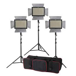 Éclairage de la rampe en Ligne-Kit d'éclairage Studio 3pcs Yongnuo YN900 3200-5500K CRI 95 + 900 LED Vidéo + Commande à distance + 2m Stand + bras de la flèche + sac de transport