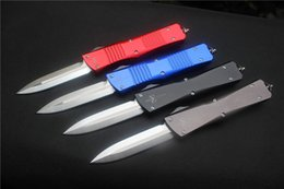 Wholesale High quality Microtech Auto Combat Troodon Knife Blade D2 Handle Aluminum CNC finish Outdoor camping hunting Tools gift
