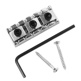 The electric guitar neck Double wave electric guitar string lock the neck Lock string string pillow Guitar piano 43 mm silver lock