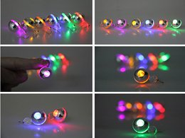 Wholesale Best Gift LED Stud Flash Earrings Hairpins circular LED Earring Lights Strobe LED Luminous Earring Party Magnets Fashion Earring Lights