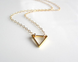 30PCS- N135 Tiny Open Triangle Necklaces Chevron Triangle Outline Necklace Simple Geometric V Necklace for Women