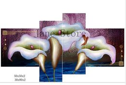 Wholesale New style orchid picture Wall Art Canvas Multi fight Oil Painting For House Room Decor Best Gift