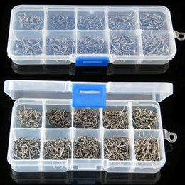 Wholesale Size High Carbon Steel Circle Owner Fishing Hooks Set Freshwater Fishhook Sets Strong Fish Tackle Box Hot Sale