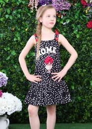 Wholesale Wlmonsoon Baby Girls Summer Dress Kids Clothes Brand Princess Dress Girl Handmade Flower Kids Dresses for Girls Dot Pattern Girls