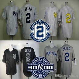 Wholesale Derek Jeter Jersey NY New York Jersey Baseball Jersey Sports Jerseys w Commemorative Retirement Patch Embroidery Logos
