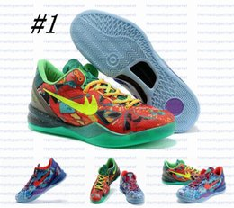 Wholesale Kobe System Prelude What The Spark Zoom basketball shoes KB VIII CHRISTMAS Trainers High quality men Athletic Shoes