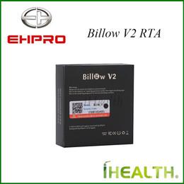 Billow v2 à vendre-100% Original! Ehpro Bulow V2 RTA Capacité double contrôle 5,0 ml grand air avec Quad post pont reconstructible réservoir Goblin Mini