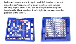 Wholesale Sudoku Number Game Number Puzzle Game toys By using the principle of the reasoning and inductive sudoku game