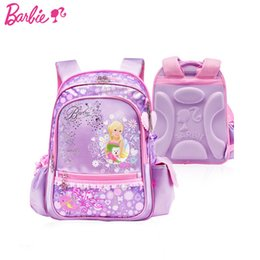 Wholesale Barbie chidlren orthopedic ergonomic ary primary school bag books backpack portfolio rucksack for girls grade