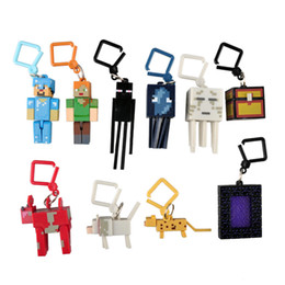 Wholesale New Minecraft Hangers Series My World Key Toy Minecraft Creeper Figure Backpack Keychain Clip