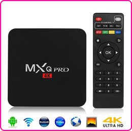 Wholesale MXQ Pro k Amlogic S905 Android TV Box Quad Core Android DDR3 G Nand Flash G HDMI WIFI p Smart TV Player Air Play Miracast