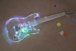 ALLNEWSt cuerpo de la guitarra eléctrica párrafo plexiglás acrílico con luces de colores desde plexiglás iluminadas fabricantes