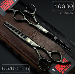 Wholesale Kasho Professional hairdressing scissors hair cutting scissors barber shears thinning scissors for cutting hair bag