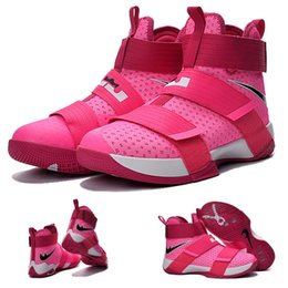 Wholesale With shoes Box Zoom Soldier James Kay Yow Breast Cancer Men Hot Sale Shoes LeBron
