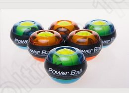 Wholesale Light Powered Items - LJJK353 Led Lights Power Ball Wrist Ball Powerball Gyro LED Wrist Exercise Power Muscle Power Strength Training Magic Ball