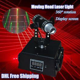 Wholesale 360 Degree Angle Rotation Laser Light mw Red Mini Moving Shaking head Laser for DJ Bar Stage Laser Rain Light Laser Curtain
