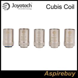 Wholesale Joyetech Cubis BF Replacement Coil Joyetech Cubis Atomizer Head With SS ohm ohm ohm Coils Clapton Coil ohm Cubis Coil