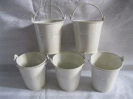 Wholesale White D7 H7CM Mini flower pot planter small seeds metal pots bucket easter egg pots decorative pail garden flower seed holder