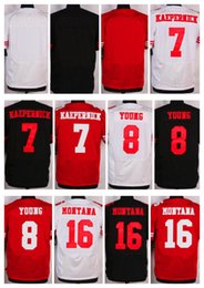 Wholesale NIK Elite Football Stitched ers Kaepernick Young Montana Blank White Red Black Jerseys Mix Order