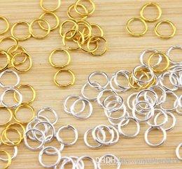 Joyería parte joyería conclusiones multi-uso moda joyería Accesorios para pulseras collar 6x0.8mm latón chapado en oro componentes 1000pcs / lot desde piezas de joyería de moda proveedores