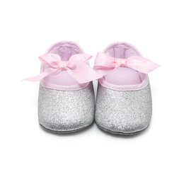 Wholesale New Fashion Aureate Bowknot Princess Baby Shoes Cotton Solid Baby Shoes Handmade High Quality Baby Shoes For Years Old
