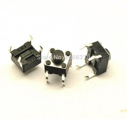 Wholesale 6 mm pin Push Button Switches Micro Switch Tact Switch Key switch Life Times