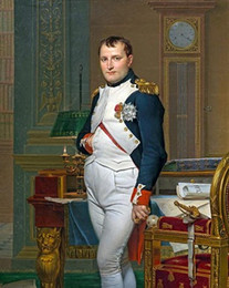 Wholesale Napoleon Bonaparte French Painting War Military History Pure Handpainted Portrait Art Oil Painting On High Quality Canvas In Any Custom Size