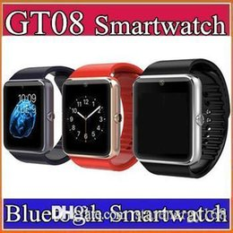 Wholesale 30X GT08 Bluetooth Smart Watch with SIM Card Slot and NFC Health Watchs for Android Samsung and IOS Apple iphone Smartphone Bracelet C BS