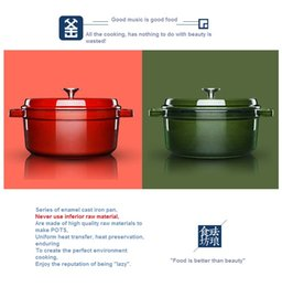 Wholesale Die casting aluminumn casserole with thick colored enamel pot soup cooking pot keeping in good health caramic coating