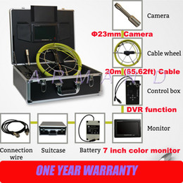 Pipeline video pipe inspection camera 710D sanke detector inspection camera for storm sewer 8GB SD card