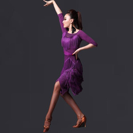 New style latin dance costumes senior sexy ice silk long sleeves latin dance dress for women latin dance dresses M L XL FN042-11
