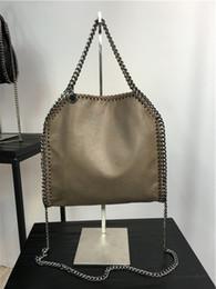 size:26*25*10 cm high quality women pvc chain handbag gray 3 chains crossbody fold over ladies tote shoulder bags