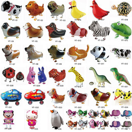 Wholesale Cheap Walking Animal Balloon Inflatable Foil Cartoon Walking Pet Balloon Party Decoration Toys Best Gifts For Kids