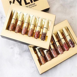 Wholesale Kylie Birthday Edition birthday gifts matte lipstick lip gloss enamel package one box DHL Discount Price