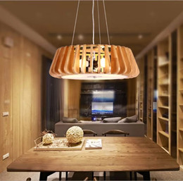 Creative wooden meal light sitting room headlight lamps and lanterns of the Nordic atmosphere Japanese bedroom light cafe