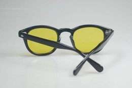 Retro Vintage Johnny Depp sunglasses Night Vision Eyeglasses Fishing yellow lens