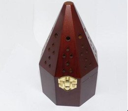 Wholesale Hot sale cm Anise without drawer Wooden smoked incense burner