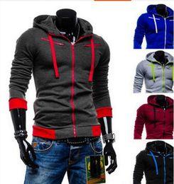 Autumn Cardigan Men Hoodies Jacket Brand Clothing Fashion Hoodies Man Casual Slim Hoody Sweatshirt Sportswear Thickness velve Zipper Hoodie